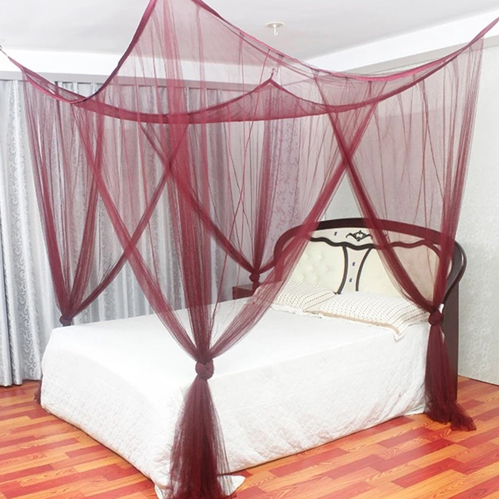 4 Corner Post Bed Canopy Mosquito Net Full Queen//King Size Netting Bedding