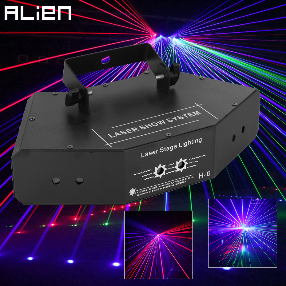 ALIEN RGB Full Color Beam Line Scanner DMX Stage Laser Projector Lighting Effect DJ Disco Party Holiday Dance Christmas Lights-in Stage Lighting Effect from Lights & Lighting