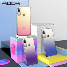 For iPhone X Case, ROCK Luxury Business Style Metal Phone Camera Protection Transparent Case For iPhone 2018 5.8 6.1 6.5 Inch