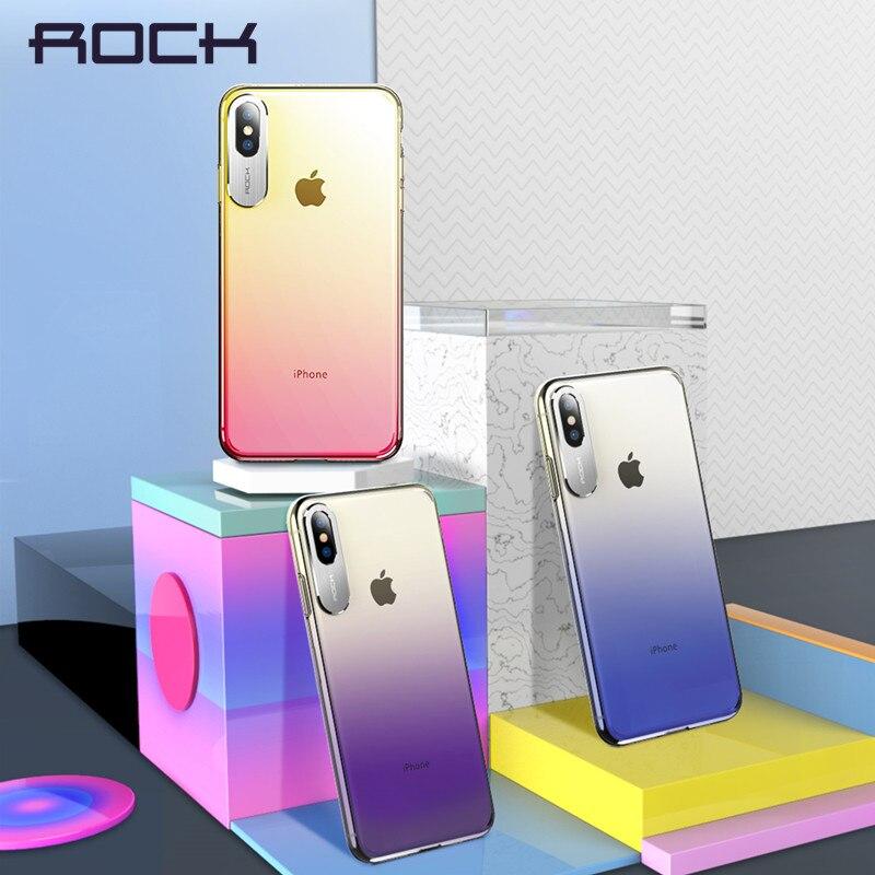 Para o iphone Caso X, ROCHA Estilo de Negócios de Luxo de Metal Câmera Do Telefone Proteção Caso Transparente Para iPhone 2018 5.8 6.1 6.5 Polegada