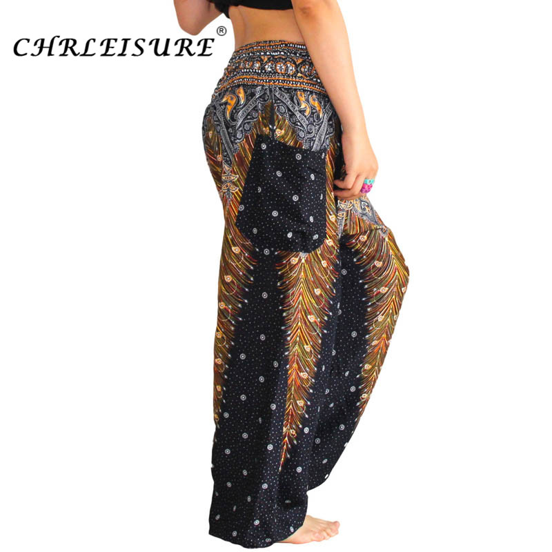 05c58e54b5a16 CHRLEISURE Summer Beach Harem Pants Plus Size Bohemian High Waist Pants  Fashion Boho Printed Trousers Women-in Pants   Capris from Women s Clothing  on ...