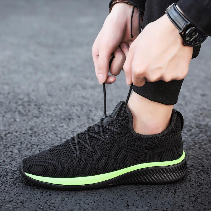 Męskie lato lekkie buty do biegania z siatki przepuszczalna