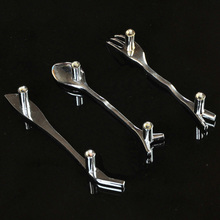 10 шт. творческий ложка нож вилка кухонный шкаф с выдвижными ручками тянет cc размер 76 мм шкаф с выдвижными дверные тянет