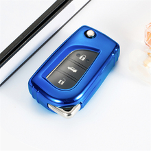 Soft Car TPU Key Case Cover For Toyota Hilux Revo Innova Rav4 Styling Remote Holder Full Flip key