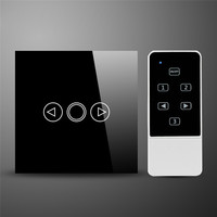 LED Dimmer AC110 240V EU UK Standard Remote Control Touch Dimming Switch Black White Dimmer Switch Wireless Smart Switch