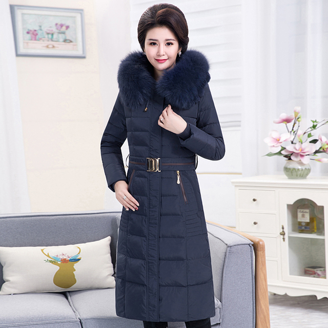 09fb5133cb97e Women Down Parka 2017 Winter Jacket Women Winter Coats Women Plus size 4XL  Fox Fur Hooded