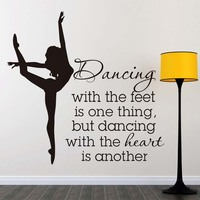 Dancing With The Feet Quote Wall Decals Dctop2285 Removable Pvc Wall Stickers Home Decor Bedroom