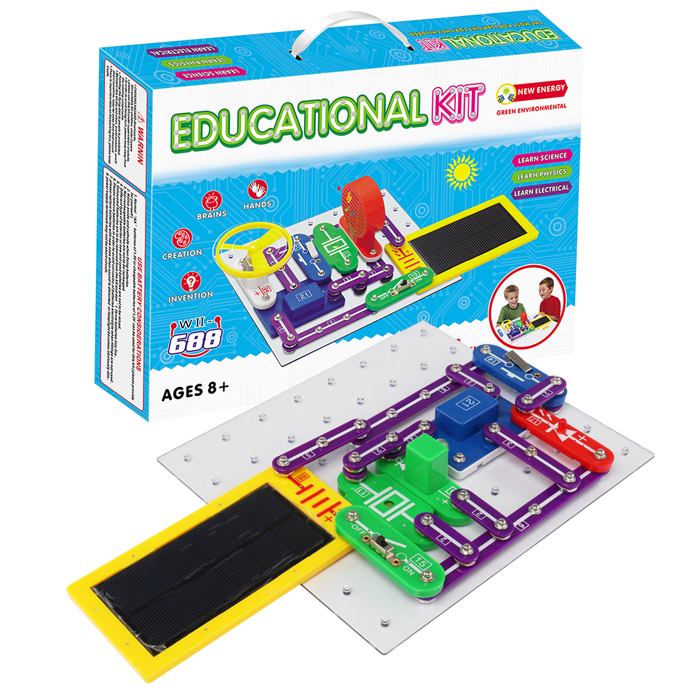 Integrated Circuit Electronic Blocks Science Education Toy Creative Physics Experiment Technology Learning Toys for ChildrenW688 цены