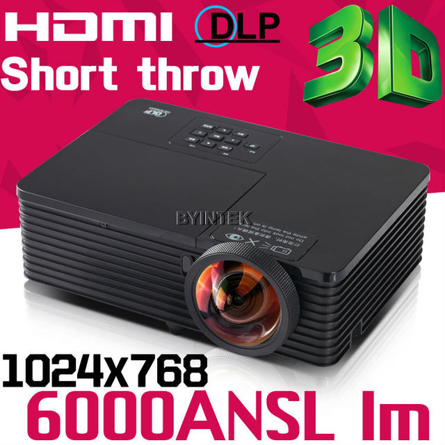 Daylight holographic 6000ANSI USB HDMI multimedia 3D DLP Support Full HD 1080p Short throw projection Projector Proyector beamer