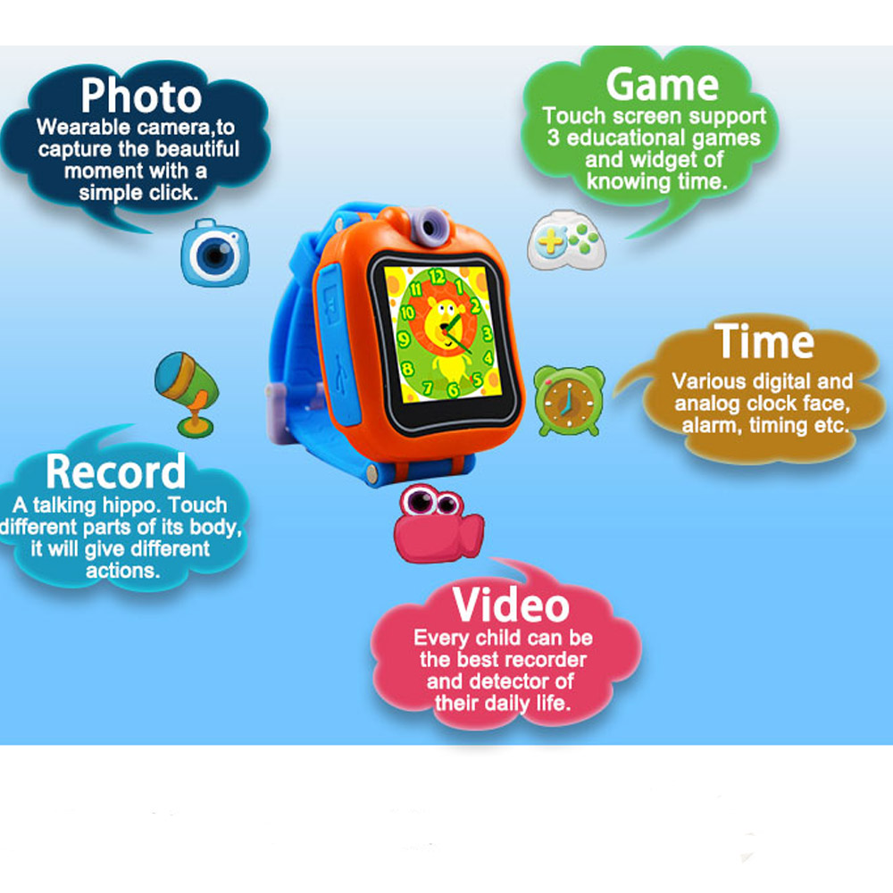 kids game smart watch 1.5 touch screen smart watch with front camera video upload games play smart watches for children