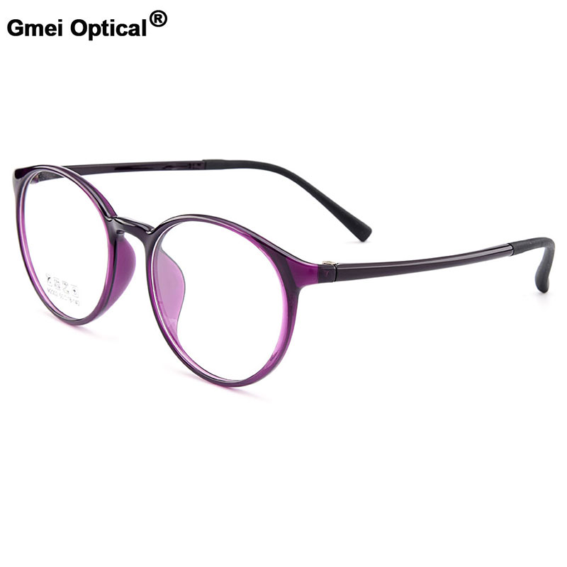 Gmei Optical Urltra-Light TR90 Round Full Rim Optical Eyeglasses Frame Women Plastic Myopia Presbyopia Spectacles 6 Colors M2002