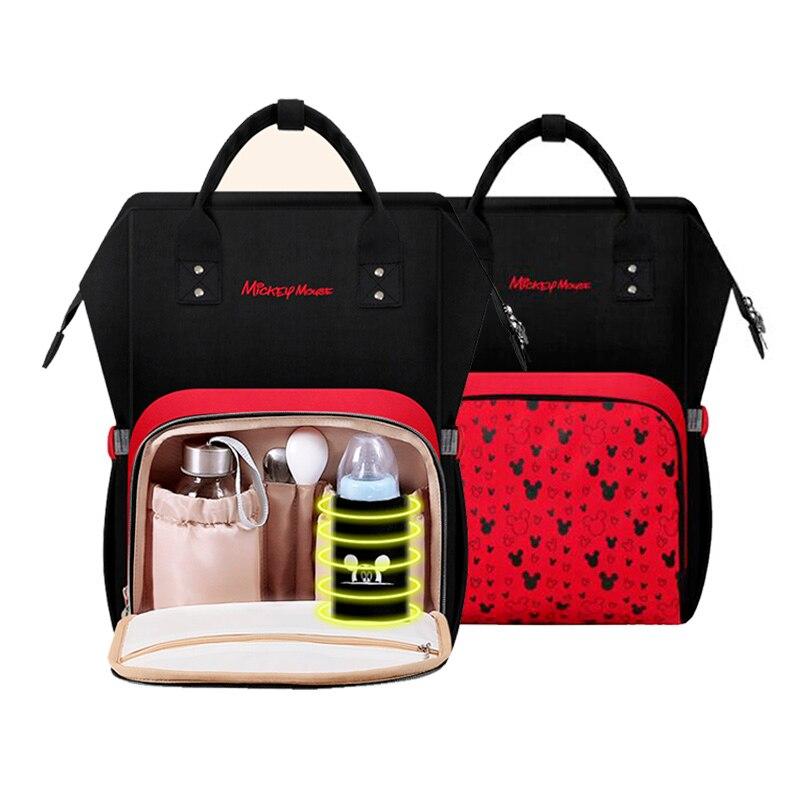 Disney Mummy Bag Multifunction Double Shoulder Travel Backpack Baby Handbag Bottle Bag Insulation Bags diaper backpackDisney Mummy Bag Multifunction Double Shoulder Travel Backpack Baby Handbag Bottle Bag Insulation Bags diaper backpack