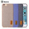 Baseus marca artístico estilo pp + tela elegante back case para iphone 6 s 6/6 s plus y caja al por menor