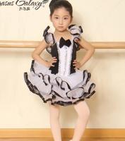 Siyah beyaz dans kostüm modern yetişkin çocuklar bale dans balerin kız bale dress leotard