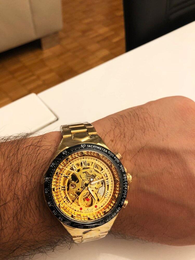 Winner New Number Sport Design Bezel Golden Watch Mens Watches Top Brand Luxury Montre Homme Clock Men Automatic Skeleton Watch 25
