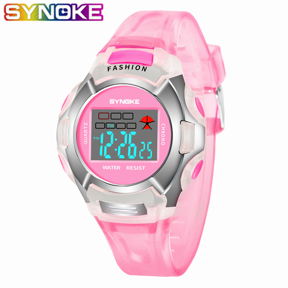 SYNOKE New Arrival Colorful Children Watch Waterproof Kids Watches Boys Digital Multifunction Sports Electronic Watches