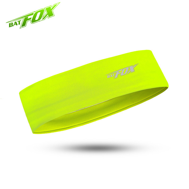 BATFOX 5 Colors Unisex Anti-sweat Running Headband Outdoor Sports Headbands Cycling   Headwear   Yoga Crossfit Gym Fitness Headdress