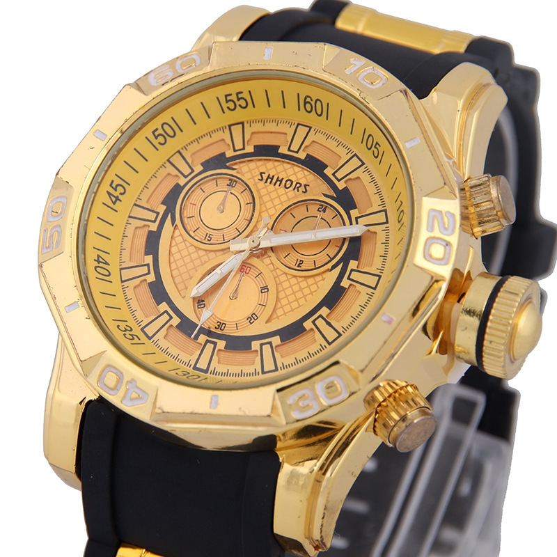 Men Quartz Watch Luxury Sport Watches Business Gold Steel Big Dial Watch 30M Waterproof Student Watch Wristwatches reloj hombre