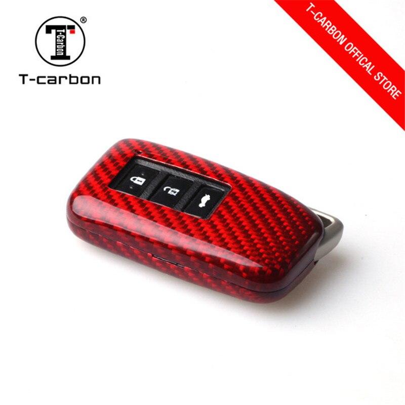 Etui clés de voiture télécommandé en Fiber de carbone véritable pour Lexus RX270 NX200 CT est ES GS RX GX 2 clé intelligente à 3 boutons