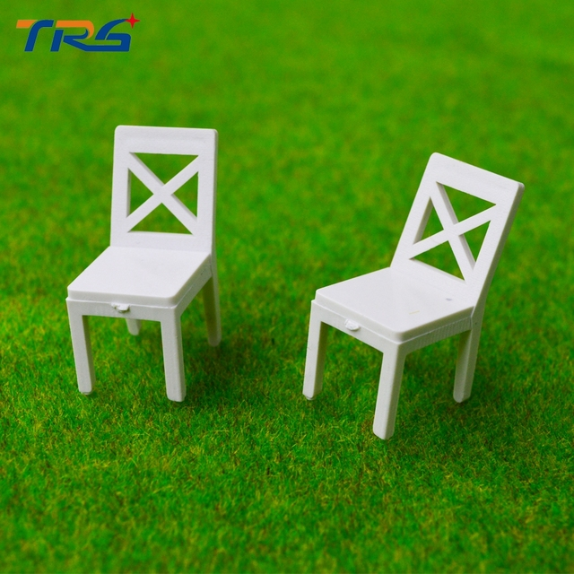 ABS Plastic Chair Miniature Scale Model Chair For Model Train Layout  Architecture Scenery