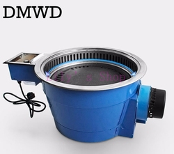 DMWD Commercial barbecue charcoal grill oven Korean smokeless grill pan non-stick frying roast meat electric BBQ stove 30W EU US