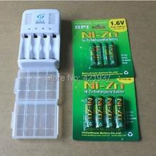 Puissant 4pcs1. 6 v aa 2500mWh rechargeable Ni-zn batterie + 4 pcs aaa1000mWh1.6v rechargeable batterie + 1 pc aa/aaa chargeur + 2 boîte de rangement