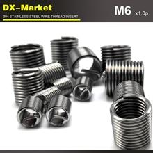 M6* 1D* 1,0 P, 100 шт, 304 вставки из нержавеющей стали, крепеж для ремонта резьбы