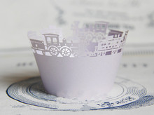 Free shipping pearl paper cup cake wrapper light purple train paper muffin cups liners wrappers decoration