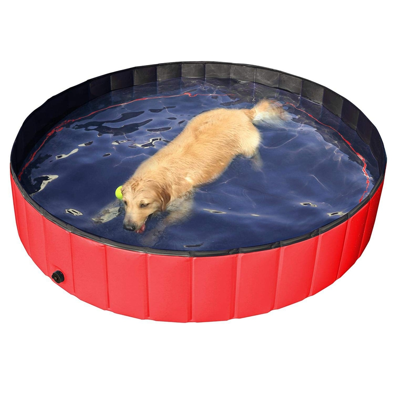 Foldable Pet Dogs Cats Paddling Pool Puppy Swimming Bathing Tub