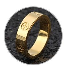 Розовое золото, кольцо из нержавеющей стали с кристаллом для женщин, ювелирные кольца для мужчин, обручальные кольца для женщин, подарки для помолвки - Цвет основного камня: gold no crystal