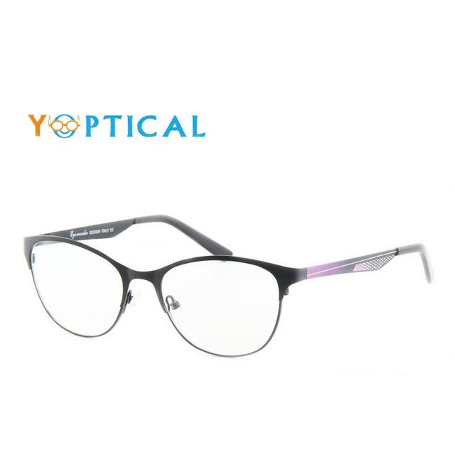 Maravilha dos olhos Óculos Frames Retro das Mulheres Do Vintage Designer de Armações de óculos de Aço Inoxidável Frame Ótico