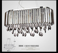 2014 modern creative lamp clear and gray option crystal chandelier lights for dining room size L720*300*800mm for restaurant