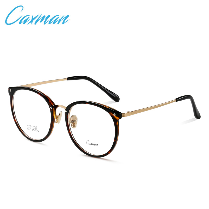 57f070b246f CAXMAN Retro Round Eyeglasses Frames Women Prescription Optical Reading  Glasses Men Eyewear Frames Spectacles Myopia Frame-in Eyewear Frames from  Apparel ...