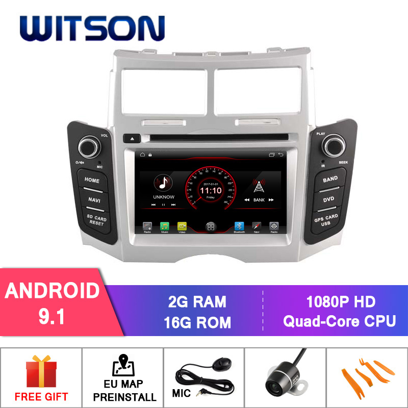 WITSON Android 9 1 GPS NAVIGATION DVD For TOYOTA YARIS car dvd player 1080P HD Mirror