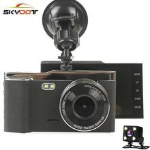 Skydot 4.0 дюймов IPS Экран Видеорегистраторы для автомобилей Камера с Двойной объектив регистраторы Full HD 1080 P Ночное видение Авто Видео Регистраторы 170 градусов видеорегистраторы