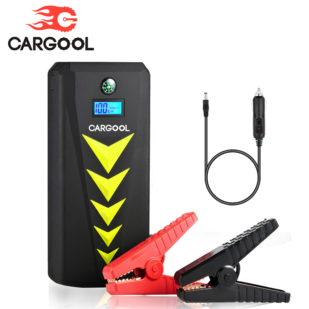 CARGOOL Car Jump Starter Portable Battery Booster 18000mAh LED Auto Smart Jumper Cables Emergency Starting Device