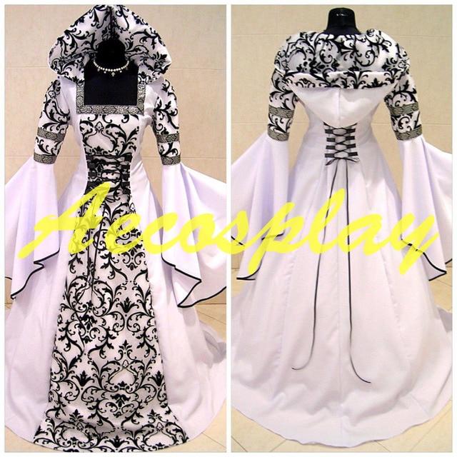 9fa9ccf7a89 Medieval Victorian Renaissance Gothic Wedding Dress Vampire Cos Costume  S-3XL