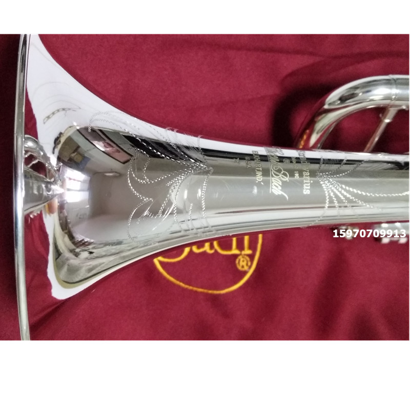 Bach AB-190S Brand Quality Bb Trumpet Brass Tube Silver Plated Professional Musical Instruments With Case Mouthpiece Accessories все цены