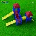 4 conjuntos de 1:150-200 escala playgroud Slide Kids Modelo de Plástico Modelo Em Escala arquitetônica Toyoutdoor Slide para Ao Ar Livre paisagem