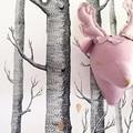 Niños bebé hecho a mano diy juguetes de peluche animales ciervos rosados unicornio beige habitación decoración de la pared tamaño 35x25 cm navidad regalo