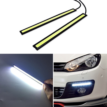 2x 17cm COB LED DRL Driving Daytime Running Lights For BMW e46 e39 e90 e60 e36 f30 f10 e30 x5 e53 e34 r1200gs f20 m e87 e92 e91 image