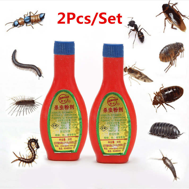 2Pcs/Set Powder Cockroach Bait Control Pest Killing All Kinds Of Pests Baits Flying Scale Insecticide Cockroach Bait Flying Trap