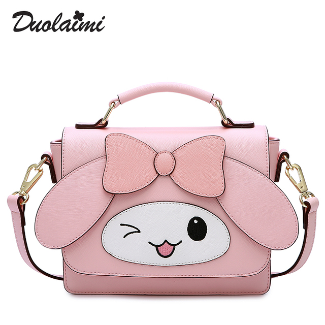 Free Shipping 2018 New Fashion Women bag Casual High Quality Handbags White  Flower lovely Crossbody Bag