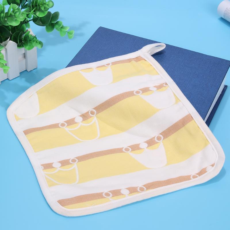 Baby Bibs Burp Cloth 6-layer Gauze Jacquard Cloth Handkerchief Newborn Crown Print Soft Handkerchief Baby Feeding Saliva Towel