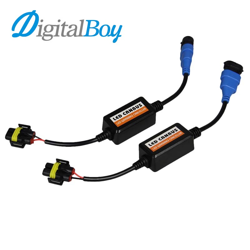 Digitalboy H7 LED Canbus Car Warning Canceller Decoders Error Free LED Anti Flicker Resistor H4 9005 9006 H11 H13 9004 Headlight led headlamp can bus error free decoder emc interference decoding car filter anti flicker resistor canceller led headlights