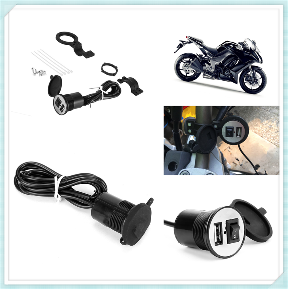 12V Car And Motorcycle Accessories USB Phone Power Socket Charger For YAMAHA YZF R15 XT660 X R Z TMAX 500 530 TMAX500 530