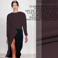 2015 Spring Section Coffee Color Worsted Wool Fabric Fabric Wholesale High Quality Wool Cloth