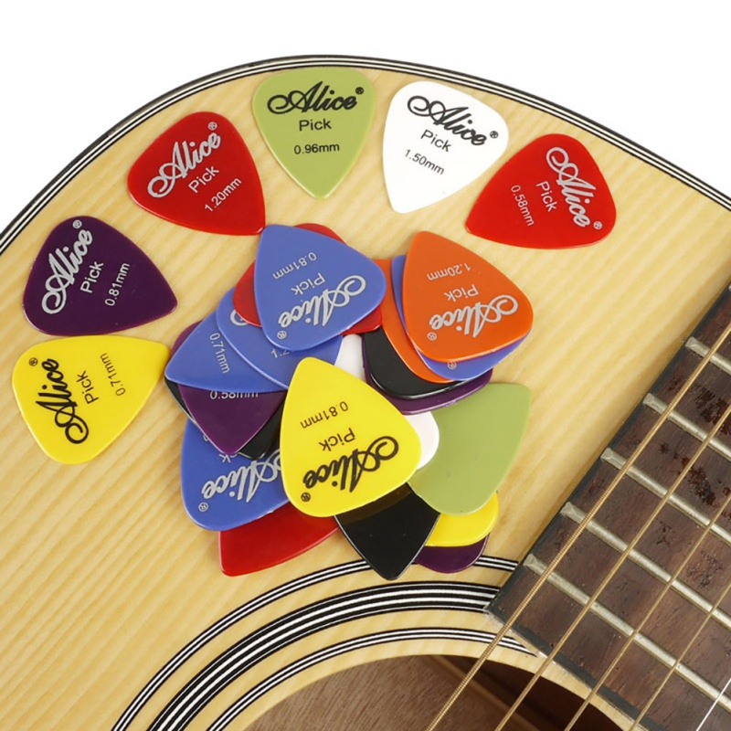 100/24/30/40/50 Pcs Guitar Picks Alice Acoustic Electric Guitar Accessories Musical Instrument With Box Case