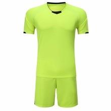 DIY custom mans soccer jerseys sets short sleeved training football jerseys sets Quick-drying breathable blank soccer tracksuit