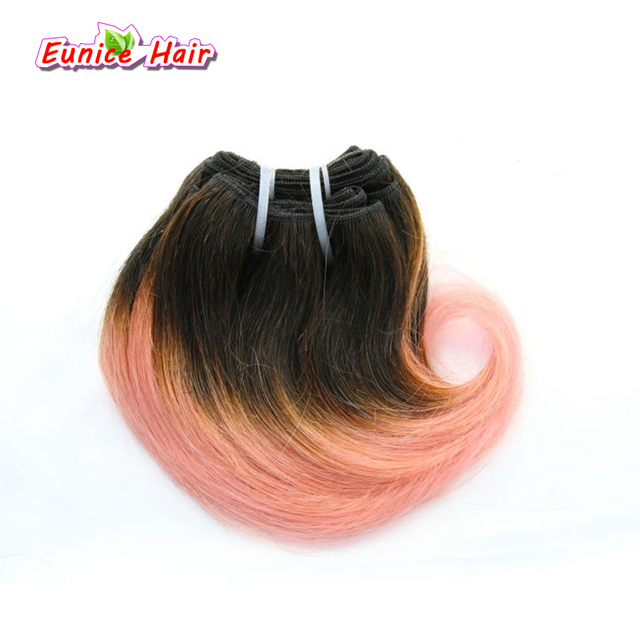 Ombre Pink Braiding Hair Unprocessed Hair Extension Brazilian Body